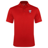 Columbia Red Omni Wick Drive Polo-Primary Logo