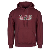 Maroon Fleece Hoodie-Football