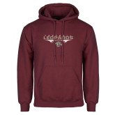 Maroon Fleece Hoodie-Leopards Football