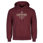Maroon Fleece Hoodie-Leopards Basketball