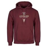 Maroon Fleece Hoodie-Leopards Lacrosse