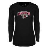 Ladies Syntrel Performance Black Longsleeve Shirt-Secondary Mark