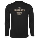 Performance Black Longsleeve Shirt-Leopards Basketball