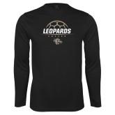 Performance Black Longsleeve Shirt-Soccer Outline