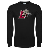 Black Long Sleeve T Shirt-Mascot with L