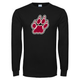 Black Long Sleeve T Shirt-Paw