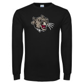 Black Long Sleeve T Shirt-Mascot Head