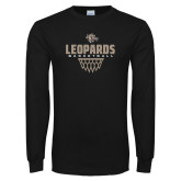 Black Long Sleeve T Shirt-Leopards Basketball