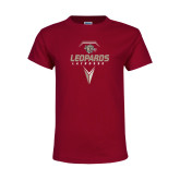 Youth Maroon T Shirt-Leopards Lacrosse