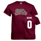 Maroon T Shirt-Primary Mark, Custom Tee w/ Name and #