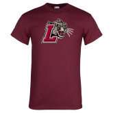 Maroon T Shirt-Mascot with L