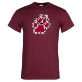 Maroon T Shirt-Paw