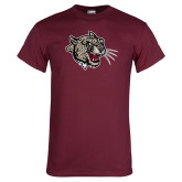Maroon T Shirt-Mascot Head