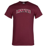 Maroon T Shirt-Arched Lafayette