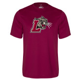 Performance Maroon Tee-Mascot with L
