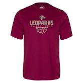 Performance Maroon Tee-Leopards Basketball