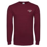 Maroon Long Sleeve T Shirt-Secondary Mark