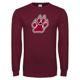 Maroon Long Sleeve T Shirt-Paw