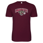 Next Level SoftStyle Maroon T Shirt-Secondary Mark