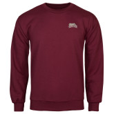 Maroon Fleece Crew-Primary Mark