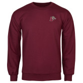 Maroon Fleece Crew-Mascot with L