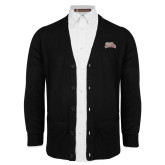 Black V Neck Cardigan w/Pockets-Primary Mark