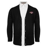Black V Neck Cardigan w/Pockets-Secondary Mark