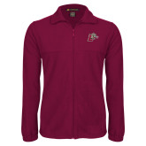 Fleece Full Zip Maroon Jacket-Mascot with L