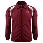 Colorblock Maroon/White Wind Jacket-Secondary Mark
