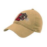 Vegas Gold Twill Unstructured Low Profile Hat-Mascot with L