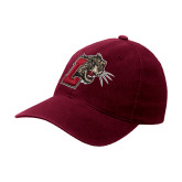Maroon Flexfit Mid Profile Hat-Mascot with L