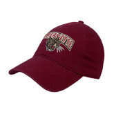 Maroon Twill Unstructured Low Profile Hat-Secondary Mark