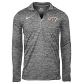 NIKE Anthracite Heather Element 1/4 Zip ' w/ Leopard Head'-