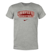 NIKE Dark Heather Grey Legend Tee '' w/ Basketball''-