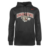 NIKE Anthracite Therma Hoody ' w/ Leopard Head'-