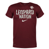 NIKE Team Maroon Legend Tee ''Leopard Nation''-