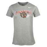 NIKE Dark Heather Women's Short Sleeve Tee ' w/ Leopard Head'-