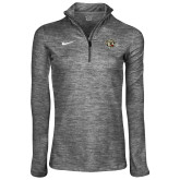 NIKE Carbon Heather Women's Heather Element 1/4 Zip ' w/ Leopard Head'-