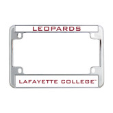 Metal Motorcycle License Plate Frame in Chrome-Leopards