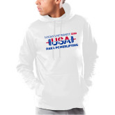 Under Armour White Armour Fleece Hoodie-USA Para Powerlifting