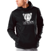 Under Armour Black Armour Fleece Hoodie-Primary with Mascot