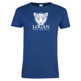 Ladies Royal T Shirt-Primary with Mascot