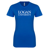 Next Level Ladies SoftStyle Junior Fitted Royal Tee-Primary Stacked