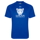 Under Armour Royal Tech Tee-Primary with Mascot