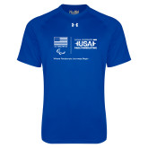 Under Armour Royal Tech Tee-New USA Para Powerlifting