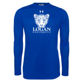 Under Armour Royal Long Sleeve Tech Tee-Primary with Mascot