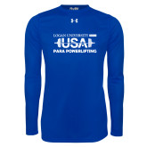 Under Armour Royal Long Sleeve Tech Tee-USA Para Powerlifting