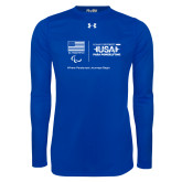 Under Armour Royal Long Sleeve Tech Tee-New USA Para Powerlifting