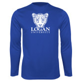 Performance Royal Longsleeve Shirt-Primary with Mascot