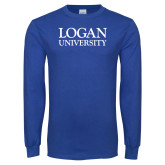 Royal Long Sleeve T Shirt-Primary Stacked